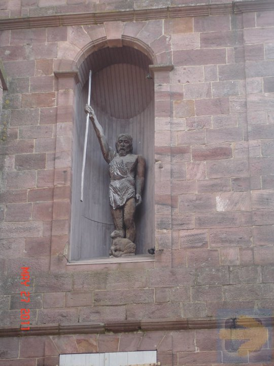 12th C. St. James Statue above Spanish Gate at SJPDP
