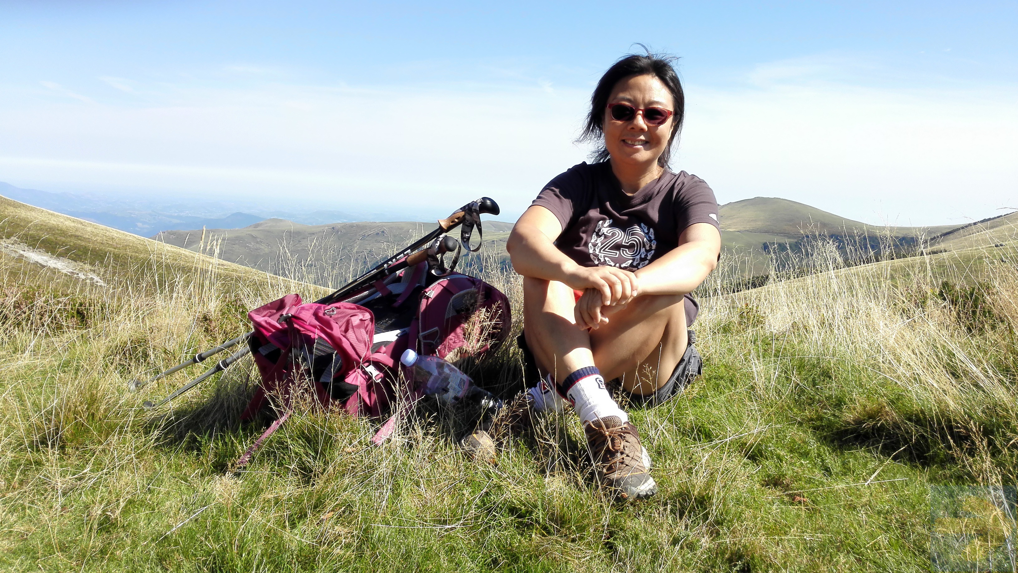 9th Sep. the very first day of my very first camino - Bathed in the Pyrenees sunshine