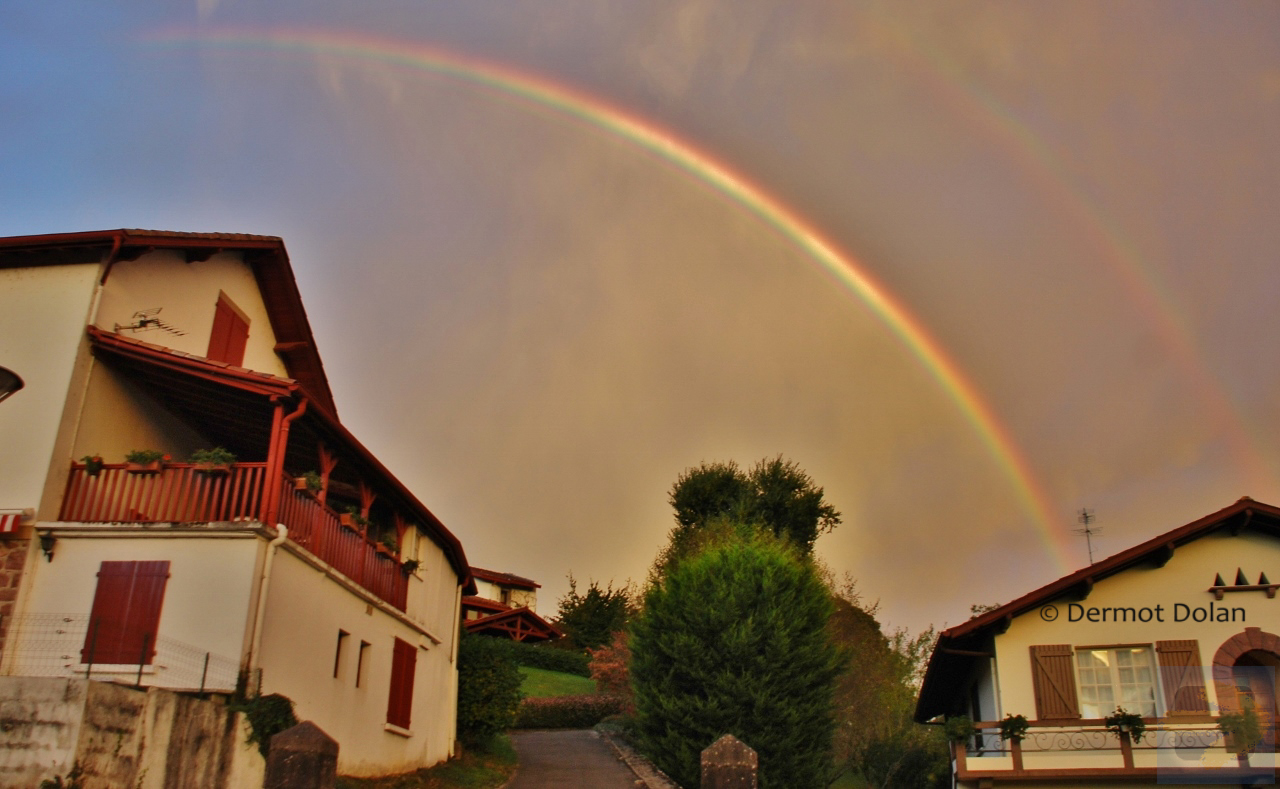 Double Rainbow outside Saint Jean Pied de Port