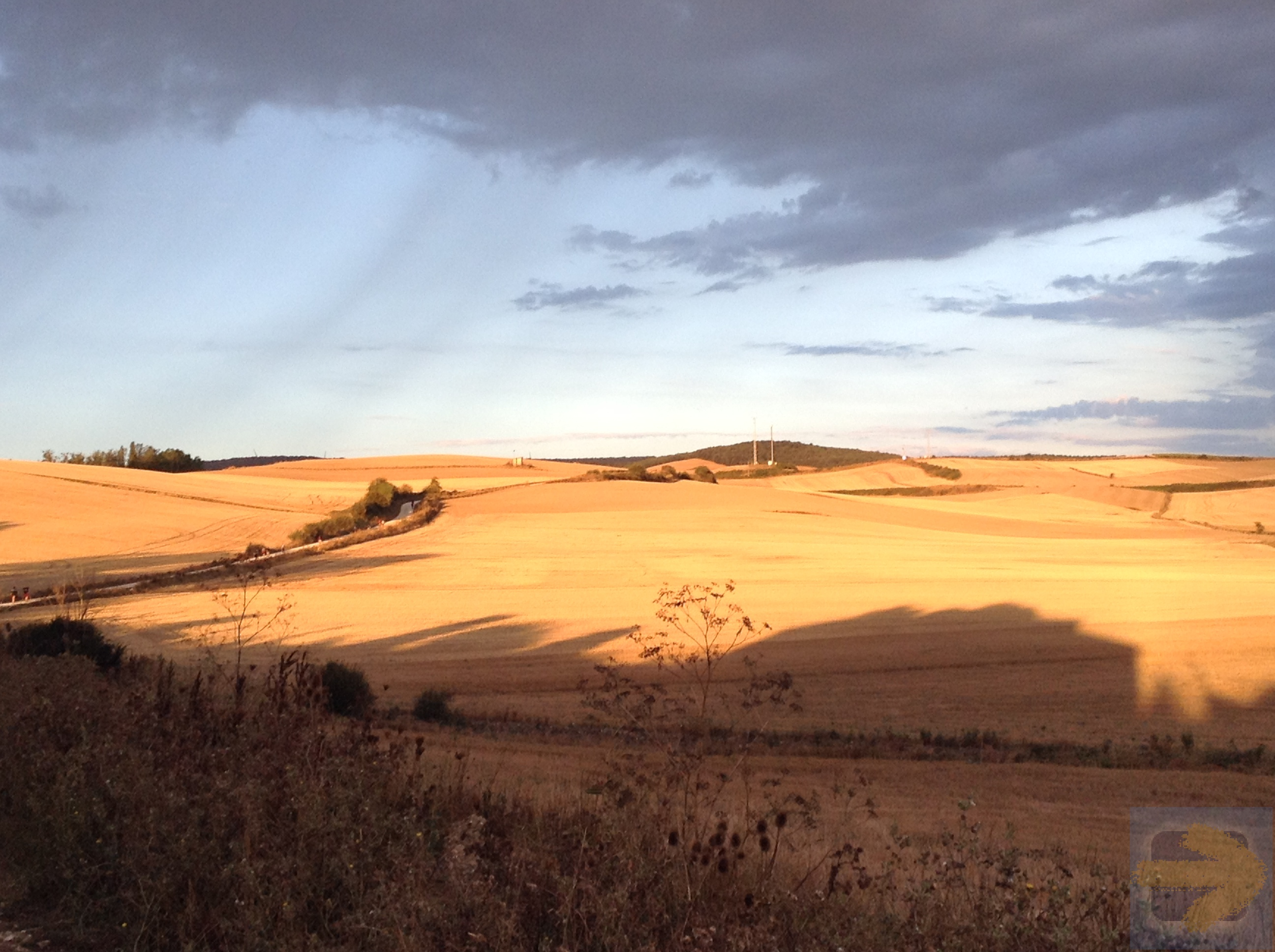 Morning light on the Meseta