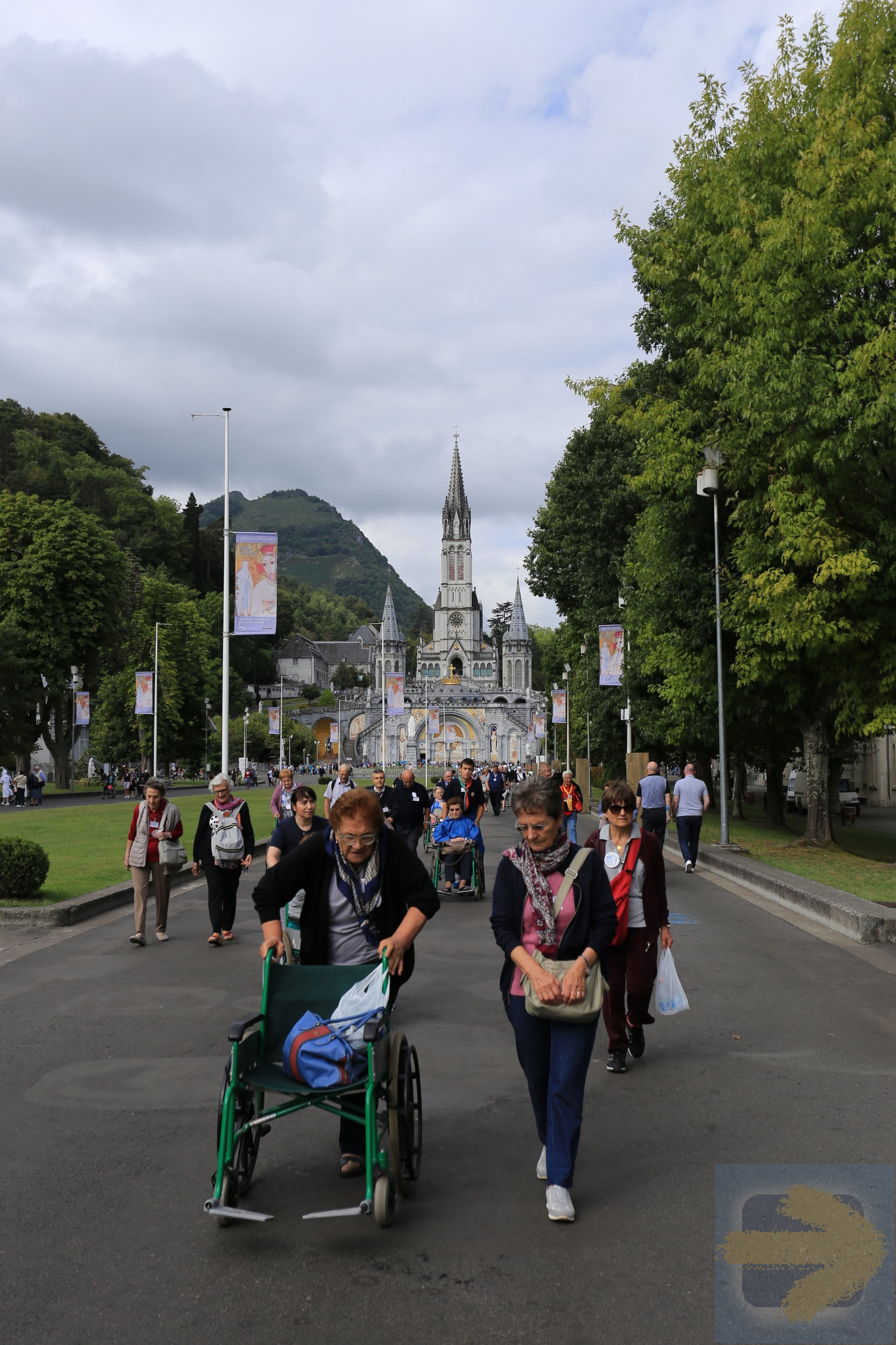 Pilgrims to the Lourdes Sanctuary