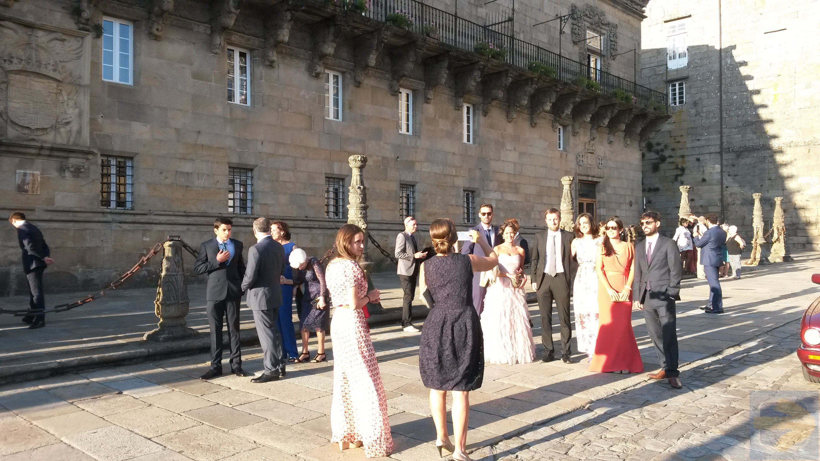 Posh wedding at parador