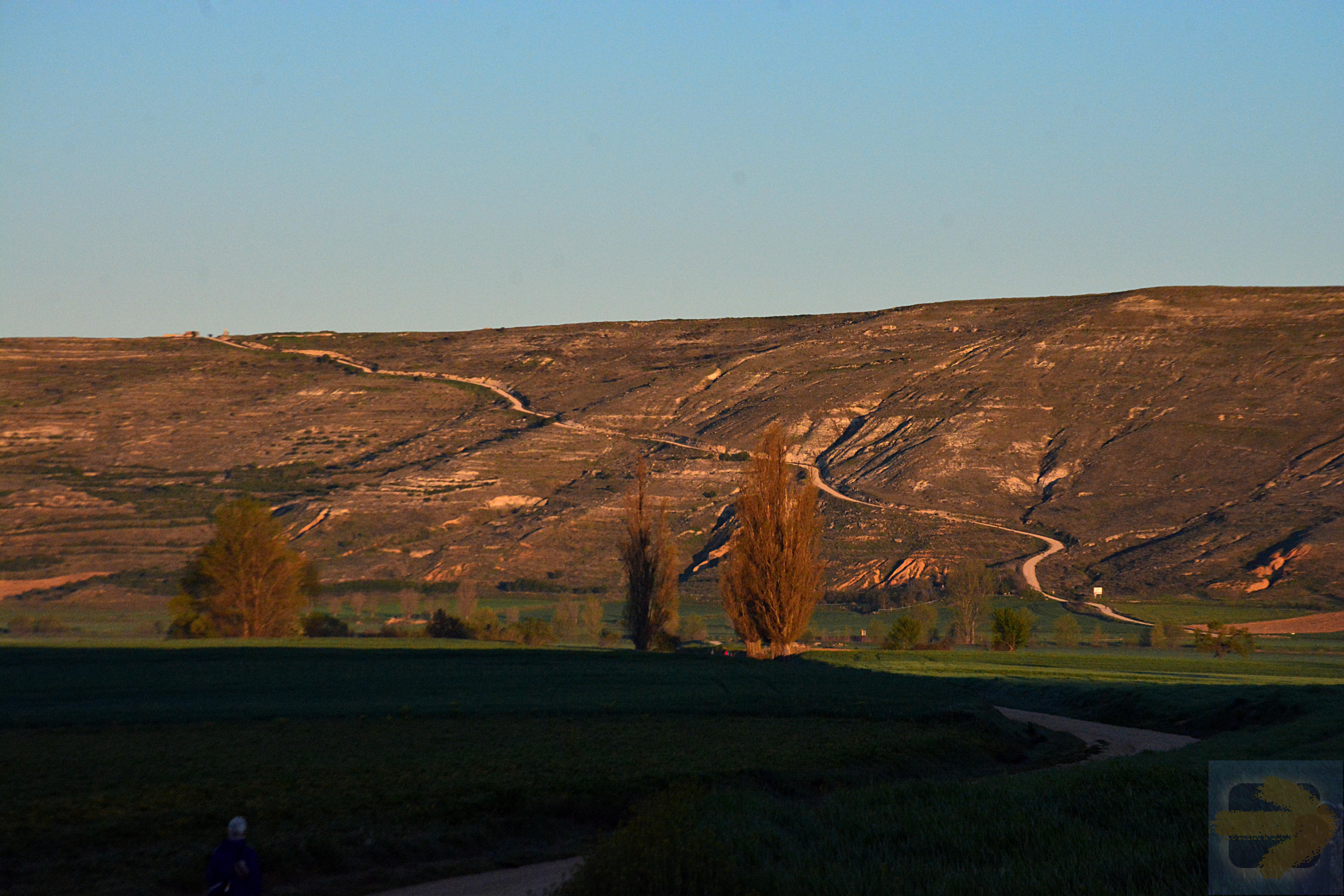 The climb up to the Meseta from Castrojerez - a great way to start the day!