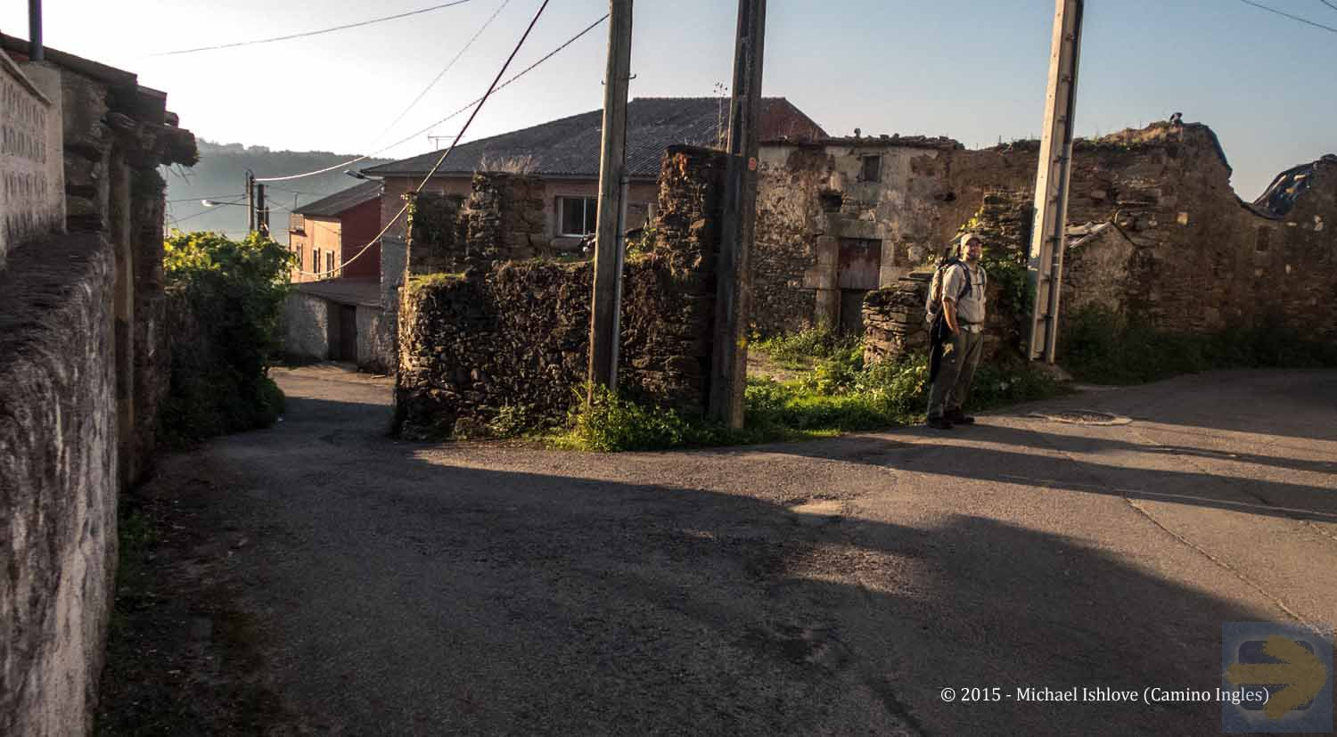 Throught the village  - - Walking to Betanzos......along the varied way.......