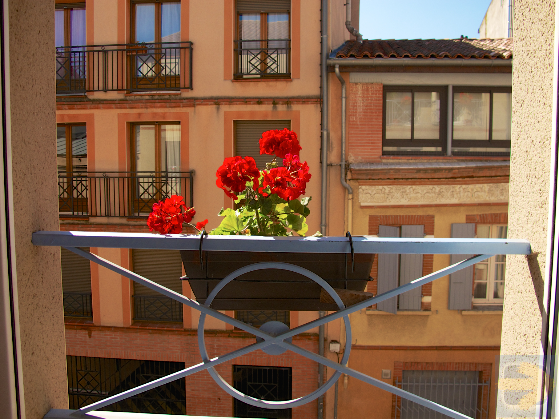 View from our Albergue window in Toulouse.